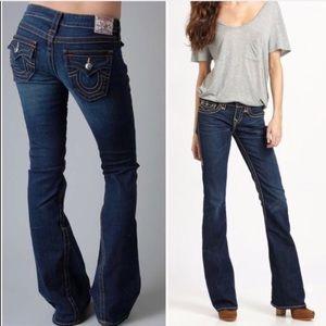 True Religion Joey Twisted Flare Jeans Sz 27::DD14
